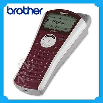 Brother PT-1090 P-Touch Label Maker Thermal Labeller+2x Starter Tape (Burgundy)