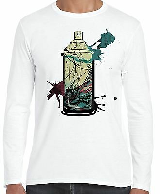 Graffiti Aerosol Spray Can Long Sleeve T-Shirt - Street Art Urban