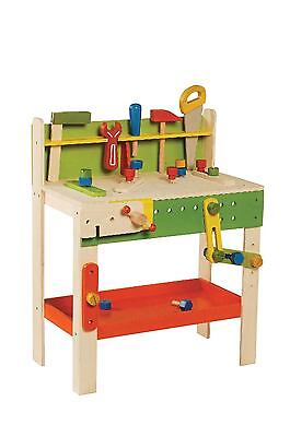 Everearth   Carpenter's Workbench with tools for children pretend play