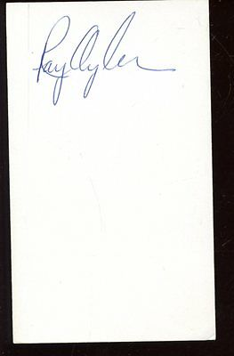 Ray Oyler Autographed Index Card 1969 Seattle Pilots 1968 Detroit Tigers