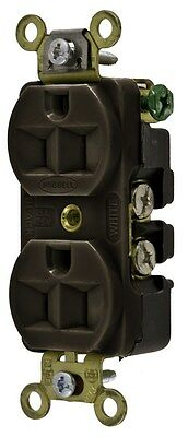Hubbell HBL5252 Receptacles - 10 Pieces - Brown