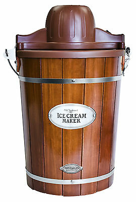 Nostalgia Electrics ICMP600WD Vintage Collection Old Fashioned 6-Quart Electric