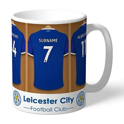 Personalised LEICESTER CITY Football Club FC Dressing Room Mug Licensed