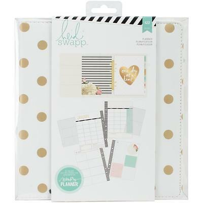 Large Memory Planner Heidi Swapp White & Gold Dot 122 Pcs 6x8 Pages
