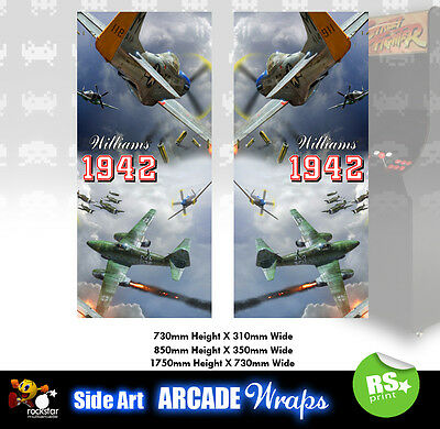 1942 Arcade Side Artwork Panel Stickers Graphics / Laminated All Sizes