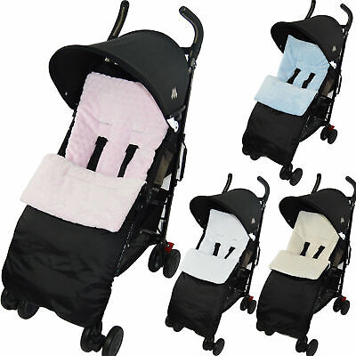 Marshmallow Super Soft Footmuff compatible with Maclaren Cosy Toes Buggy