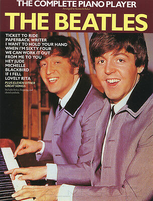 The Complete Piano Player The Beatles Sheet Music Book 22 Songs Chords & Lyrics