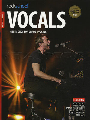 Rockschool Vocals Male Grade 4 Sheet Music Book with Audio Exams Tests