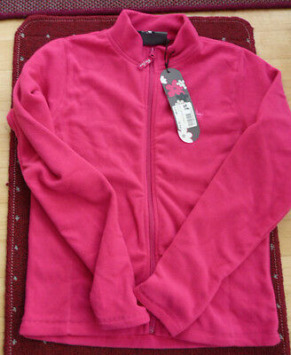 NWT.Miss Fiori girls cosy snuggly fleece zip up jacket pink age 13yrs £14.99