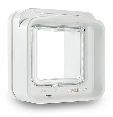 SureFlap DualScan Microchip Cat Flap White