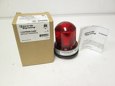 New Edwards Signaling 125STRNR1248D 12-48VDC Red Strobe Light Type 4X Gray Base