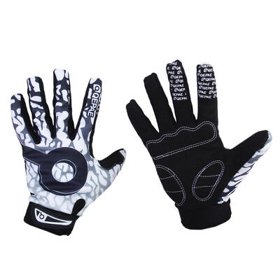 Sports Cycling Biker Motorcycle Racing Skull Bone Skeleton Full Finger Gloves
