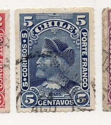 Chile 1878 Early Issue Fine Used 5c. 073644