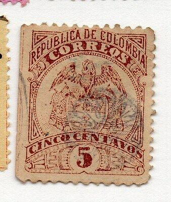 Colombia 1892 Early Issue Fine Used 5c. 073683