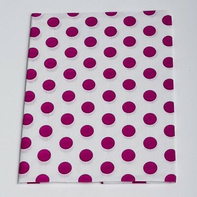 """TISSUE PAPER Pink Dot 20"""" x 30"""" 240 Sheets 1 Ream Quality Premium Wraping"""