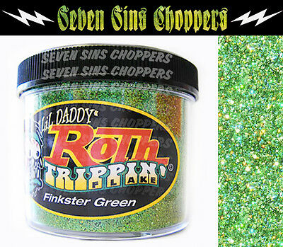 Roth Flake Trippin FINKSTER GREEN Chopper Hotrod Metalflake Sparkle Paint