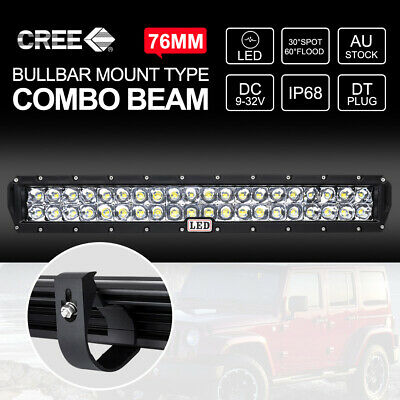 23 inch CREE LED Light Bar COMBO Beam With 76mm Bull Bar Bracket For ARB Bullbar