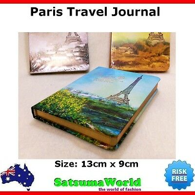 Journal Travel Diary Girls Notebook vintage cahier hot PARIS EIFFEL TOWER NEW