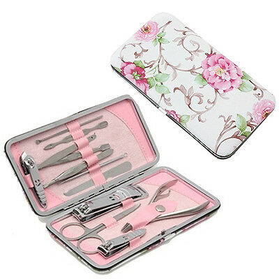 12Pcs Stainless Steel Nail Clipper Nipper Cutter Admiring Manicure Tools Set