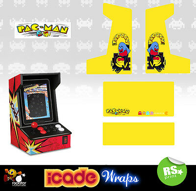 Icade Pacman Full Set Graphics Sticker / Sides Marquee & Panels