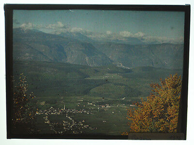"""Autochrome 9x12cm """"Mountain landscape"""" around 1915 well preserved A19"""