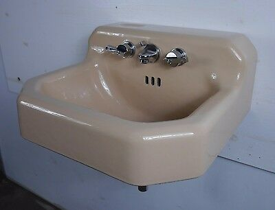 Antique Vintage American Standard Bathroom Sink 'Ledgewood' Persian Brown 1960's