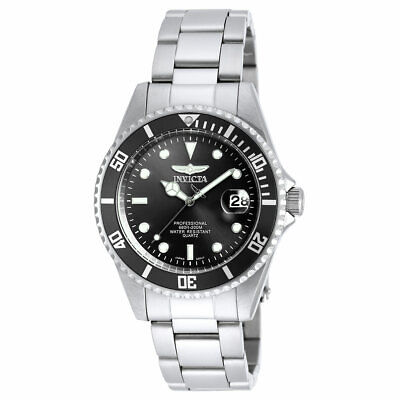 Invicta Men's Watch Pro Diver Quartz Black Dial Dive Quartz Bracelet 8932OB