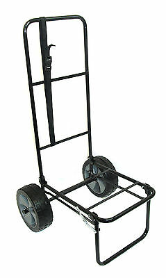 "Folding Fishing Seatbox Trolley With 10"" Puncture Proof Pneumatic Tyres"