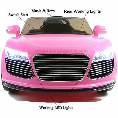 New Sport Roadster Audi Style 12v Kids Electric Ride on Car with Remote - Pink