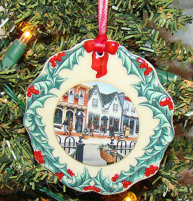 32506 - '98 Hometown Christmas Ornament (Longaberger Collectors Club) Porcelain