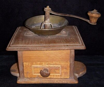 18th Century New England Spice Grinder with Maker's Mark on Arm