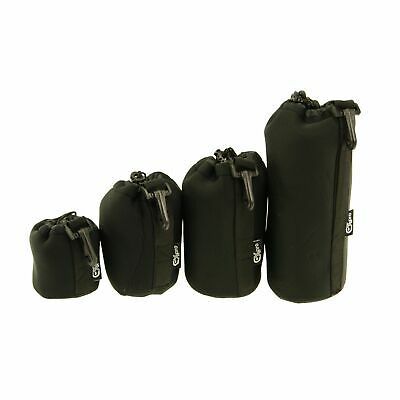 Ex-Pro Soft Neoprene Protective Lens Pouch Case Bag With Kit Hook For Camera Of