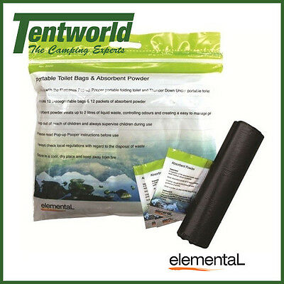 Elemental Portable Toilet Bags and Absorbent Paper
