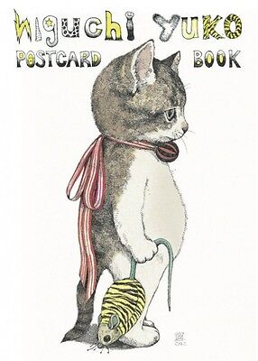 F/S Yuko Higuchi Post Card Book Illustration Picture Holbein Emily NEW Cat