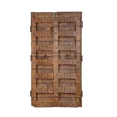 "76.5"" Russell Door  Carved Antique Architectural Vintage Solid Wood Hand Made 98"