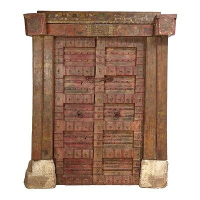 "92.5"" Linnea Door and Frame  Carved Antique Architectural Vintage Solid Wood Han"