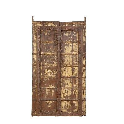 "69"" Vannessa Door  Carved Antique Architectural Vintage Solid Wood Hand Made 39"