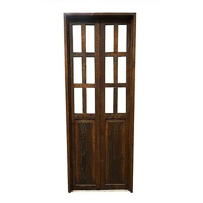 "84"" Lance Elite Door  Carved Antique Architectural Vintage Solid Wood Hand Made"