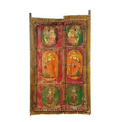 "70.5"" Ira Wooden Door  Carved Antique Vintage Architectural Hand Made 23"