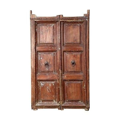 "73.5"" Elias Door  Carved Antique Architectural Vintage Solid Wood Hand Made 62"