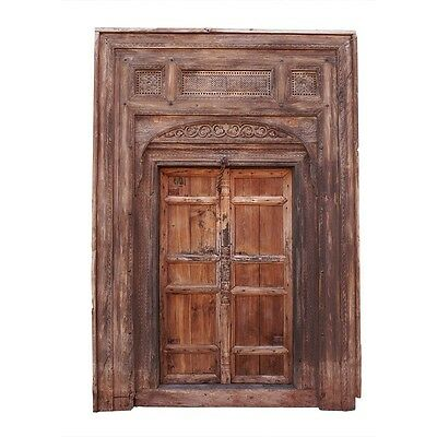 "105"" Rosita Wooden Door  Carved Antique Vintage Architectural Hand Made 71"