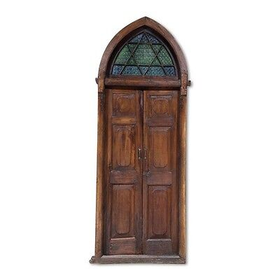 "104"" Clark Door  Carved Antique Architectural Vintage Solid Wood Hand Made 95"