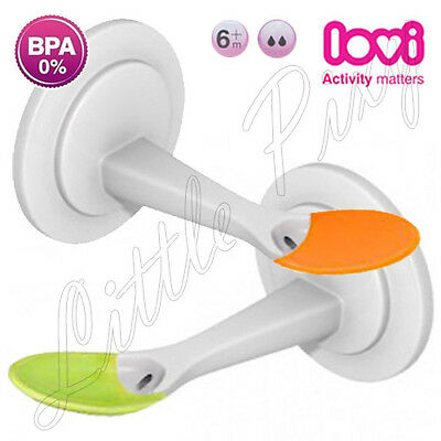 LOVI Soft Bowl Spoon For Baby Multifunction Bottle Easy Squeezy 6m+ With Brush