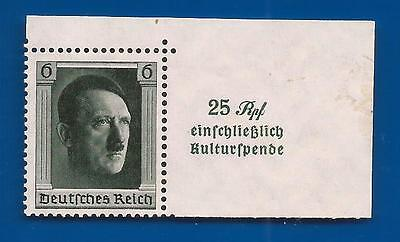 1937 3rd Third Reich Post Nazi Germany Hitler Culture Fund postage stamp MNH