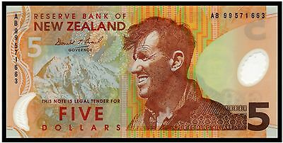 New Zealand $5 Dollars 1999 (P-185) - A Beauty!