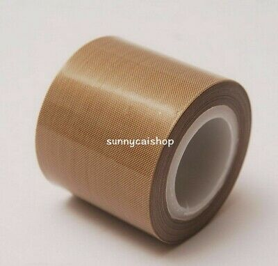 "4/""X 33 FT Brown PTFE Teflon Adhesive Tape High temperature tape 0.18mm*100mm*10M"