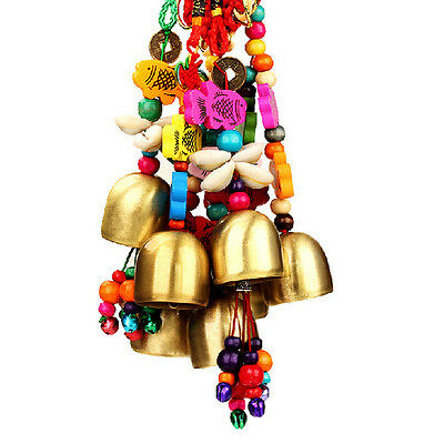Fun National Copper Bell Mobile Wind Chime Home Yard Garden Outdoor Living Decor