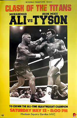 MUHAMMAD ALI VS MIKE TYSON POSTER (91x61cm) TITANS NEW LICENSED ART