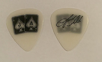 Jason Aldean - Guitar Pick White Black 2015 Tour Jacks & Aces Country