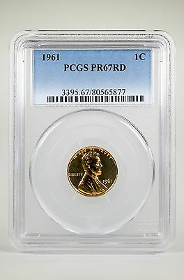 Pr67Rd 1961 Red Lincoln Penny Pcgs Graded 1C Proof Coin Liberty Us Pr67 One Cent